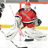Stoneham: Marblehead girls Hockey goalie Mollie Depew.  photo by Mark Teiwes  / Salem News