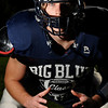 Swamscott: Big Blue linebacker Peter Yasi. photo by Mark Teiwes / Salem News
