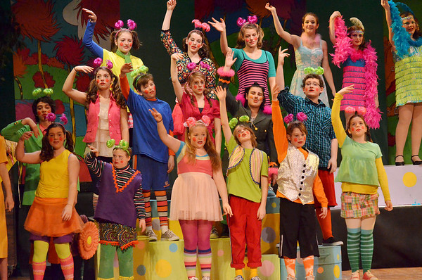 "Hamilton: Miles River Middle School's production of ""Seussical."" featured lively colorful costumes. photo by Mark Teiwes  / Salem News"