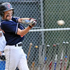 Beverly: Peabody West player Josh Freeman concentrates for a base hit against  Swampscott at the Little League all-star state sectional game Mark Teiwes / Salem News
