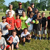 Salem: The 5 to 9-year-olds were one of 4 groups running drills at the Salem youth football clinic.  photo by Mark Teiwes / Salem News