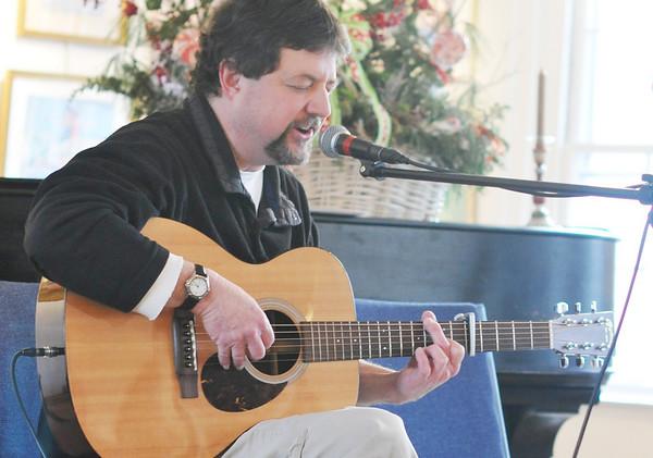 "Marblehead: Raymond Gonzalez of Marblehead sings ""Cherry Tree Carol"".  photo by Mark Teiwes / Salem News"