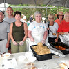 Danvers: Polish Club Picnic, pictured from left Danielle and Bill Goodwin, Chris Pierce, Sandra Lerner, Alfreda Maynard, Anita Walecki, Betty Cooper, Sandy Strainge, and Janet Delande.   photo by Mark Teiwes / Salem News