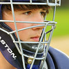 Peabody:  Catcher Daniel Kohn guards home plate for the Higgins Middle School team. photo by Mark Teiwes / Salem News