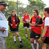 Salem: Tornados coach Joe Mento talks with his players before a game. Photo by Mark Teiwes / Salem News