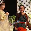 Beverly:  Lydia Saltzman, left, as the Fairy Godmother and Kaitlyn Prothier as Cinderella perform in the fifth grade musical at North Beverly Elementary School.  photo by Mark Teiwes / Salem News