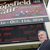 Topsfield: With the Topsfield Fair is less than a month away, James O'Brien, general manager, spoke about the preparations they have been doing all year including booking entertainment, putting a new roof on the arena, and working on switching over to low energy lights.  photo by Mark Teiwes / Salem News