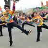 Topsfield: Alex Pecoraro, 16, of Hamilton, left, leads the blast squad dance group at the Topsfield Fair.  photo by Mark Teiwes / Salem News