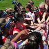Boxford: U-13 girls lacrosse Tribal Team gets ready for a game against Ipswich. photo by Mark Teiwes / Salem News