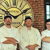 Salem:  43 Church's chefs are Thomas Garfield, left, sous chef, Lee Fannon, executive chef, and Richard Lambaise, general manager.  photo by Mark Teiwes / Salem News