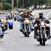 Wenham:  Hundreds of motorcyclists ride in the 11th annual Nelson's Ride down 1A through Wenham.    photo by Mark Teiwes / Salem News