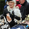 Beverly: Mary Lou Ferriero dessed as Cordelia the coo-coo cat lady for the annual neighborhood Halloween parade.  photo by Mark Teiwes / Salem News