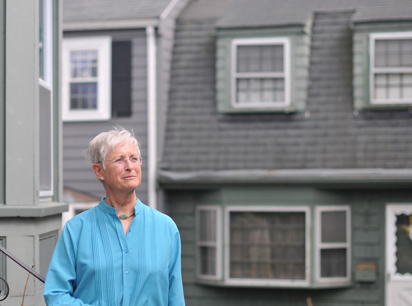 Marblehead:   Tilly Maddux, parents sheltered a Jewish nanny in Holland during WW II.  photo by Mark Teiwes