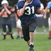 Beverly: John Jones, 12, works on his speed at practice. photo by Mark Teiwes /  Salem News