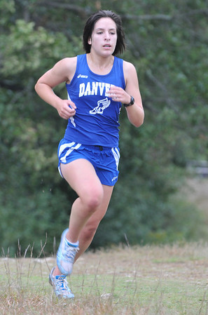 Topsfield:  Danvers freshman Catalina Dominick runs to win the girls race with a time of 19:59. photo by Mark Teiwes / Salem News