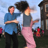 Iswich:  Mike Kenny spins Greta Nielsen at Castle Hill's Summer Picnic Concert Series.  photo by Mark Teiwes / Salem News