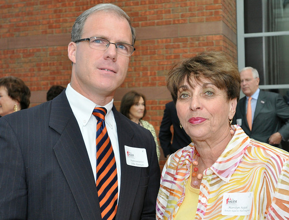 Salem: Representative John Keenan and Marilyn Segal attended the Salem Partnership's annual dinner. photo by Mark Teiwes / Salem News