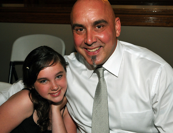 Peabody: Alexis Walters with her father Jon attend this year's annual father/daughter ball.  photo by Mark Teiwes / Salem News