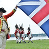 """Salem: Chris Kone of Easton plays Captain Lt Colonel of """"His Majesty's First Regiment of the foot guards part of the weekend's British reenactment units encamped on Derby Wharf. photo by Mark Teiwes/ Salem News"""