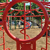 Beverly: A team of 15 to 30 people helped plan and fundraise for the new playground installed last weekend at Kimball-Haskell Park also know as Cove Park.  photo by Mark Teiwes / Salem News