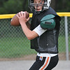 Beverly: Sam Traicoff, 13, works on a passing play. photo by Mark Teiwes /  Salem News
