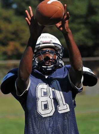 Peabody: Peabody High School quick end Jarad Spriggs.  photo by Mark Teiwes / Salem News