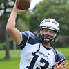Swampscott High School varsity football captain and quarterback Michael Walsh.  photo by Mark Teiwes /  Salem News