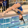 Marblehead: Danvers diver Brittney Zecha flips as she competes against Marblehead.  photo by Mark Teiwes  / Salem News