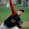 Marblehead:  Marblehead pitcher Braden Engstrom releases a pitch.  photo by Mark Teiwes