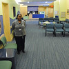 Peabody:  Victoria Dune of Wakefield, radiology operations manager, stands in the radiology waiting room at new Children's Hospital North building.  photo by Mark Teiwes / Salem News