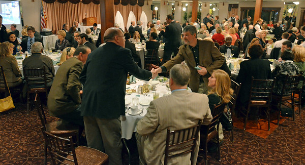Danvers: Supporters gathered at the Danvers Educational Enrichment Partnership's annual Hall of Honor Fundraiser.  photo by Mark Teiwes / Salem News