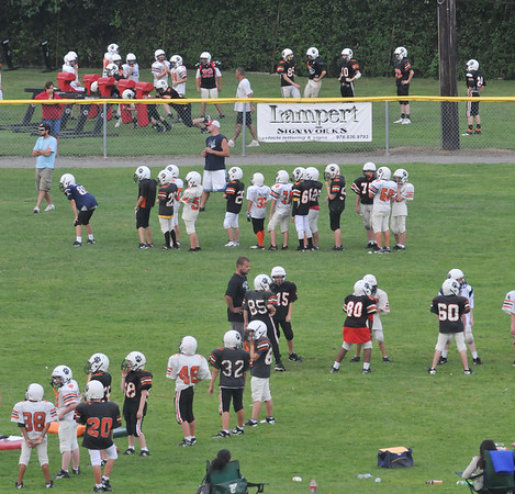 Beverly: Beverly Youth Football teams practice at Cooney Field.  photo by Mark Teiwes /  Salem News