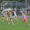 Beverly: Beverly youth cheerleaders practice a routine.  photo by Mark Teiwes /  Salem News