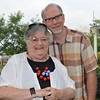 Salem:  The Salem Theater Company held a summer celebration and benefit.  Pictured from left: Georgette Beck, actress and playwright of Marblehead, and Gary LaParl, Executive Director.    photo by Mark Teiwes / Salem News