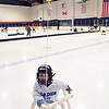 Salem: 3-year-old Aaron Roddie of Swampscott learns to skate.   photo by Mark Teiwes / Salem News