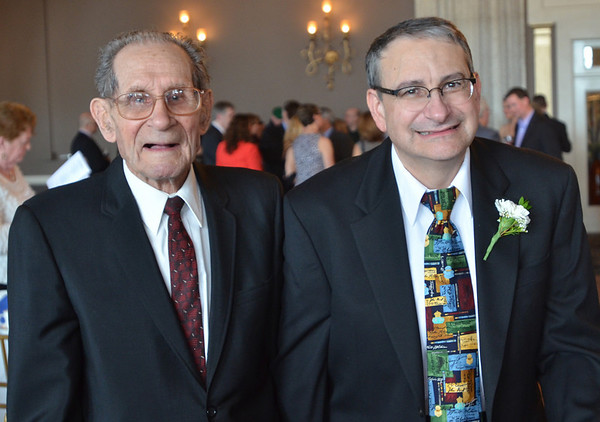 Danvers: Daniel Liporto, right, was honored at the gala.  Pictured with his father Guido.  photo by Mark Teiwes / Salem News