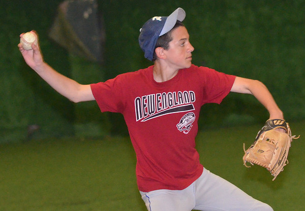 Peabody: Peabody National Little League all-star  player Jack Palamachuck practices for the District 15 Williamsport tournament next week.  photo by Mark Teiwes / Salem News