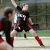 Salem: Salem pitcher Sarah Chasse winds up for a pitch. photo by Mark Teiwes / Salem News
