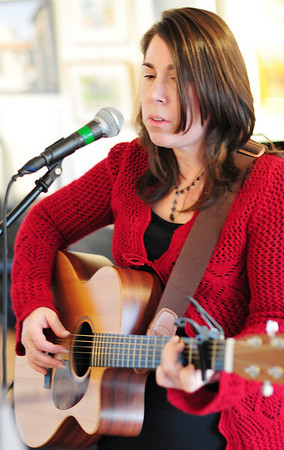 """Marblehead: Dawn Frost of Beverly collaborated on an holiday album entitled """"Our Finest Gifts.   photo by Mark Teiwes / Salem News"""