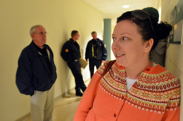 SALEM: Tarin McCabe of Salem said she was extremely concerned about the proposed methadone clinic as she works across the street at New England Veterinarian clinic photo by Mark Teiwes / Salem News