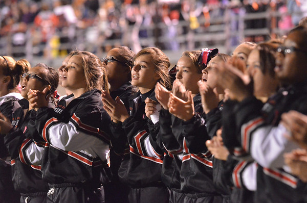 Salem: Salem High School cheerleaders encourage their football team.   photo by Mark Teiwes / Salem News