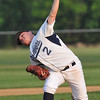 Danvers: Danvers starting pitcher Ray Arocho throws a pitch.  photo by Mark Teiwes / Salem News