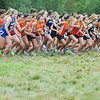 Topsfield:  Beverly, Danvers, Swampscott girls cross country teams take off from the starting line in a tri-meet at Bradley Palmer State Park. photo by Mark Teiwes / Salem News