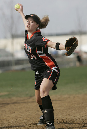 Beverly:  Beverly softball pitcher Rachel Willwerth  photo by Mark Teiwes