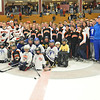 Gloucester: Youth hockey players from the Danvers and Beverly leagues skated with the Danvers and Beverly varsity girls and boys hockey teams.  photo by Mark Teiwes  / Salem News
