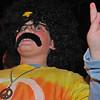 Salem:  Tad Niewiadomski of Peabody, 9, dressed as a hippy to watch the parade. photo by Mark Teiwes / Salem News