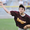 Beverly: Danvers National little league pitcher Jack Anderson throws a strike. photo by Mark Teiwes  / Salem News