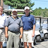 Boxford: Doug Parigian of Lowell, Bob Avellino of Peabody and John Gilmartin of Andover participated in the North Shore Amateur golf tournament at the Far Corner golf course.  photo by Mark Teiwes /  Salem News