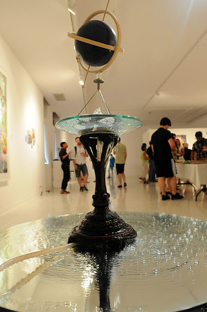 """Beverly: Montseratt College of Art exhibition """"The Morning Exciting"""" runs through October 23 with work by four artists including this piece entitled """"Fountain"""" by Ronnie Bass.  photo by Mark Teiwes / Salem News"""