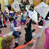 Hamilton: Children hold up kites they built during a workshop at the Hamilton-Wenham Public Library. photo by Mark Teiwes / Salem News